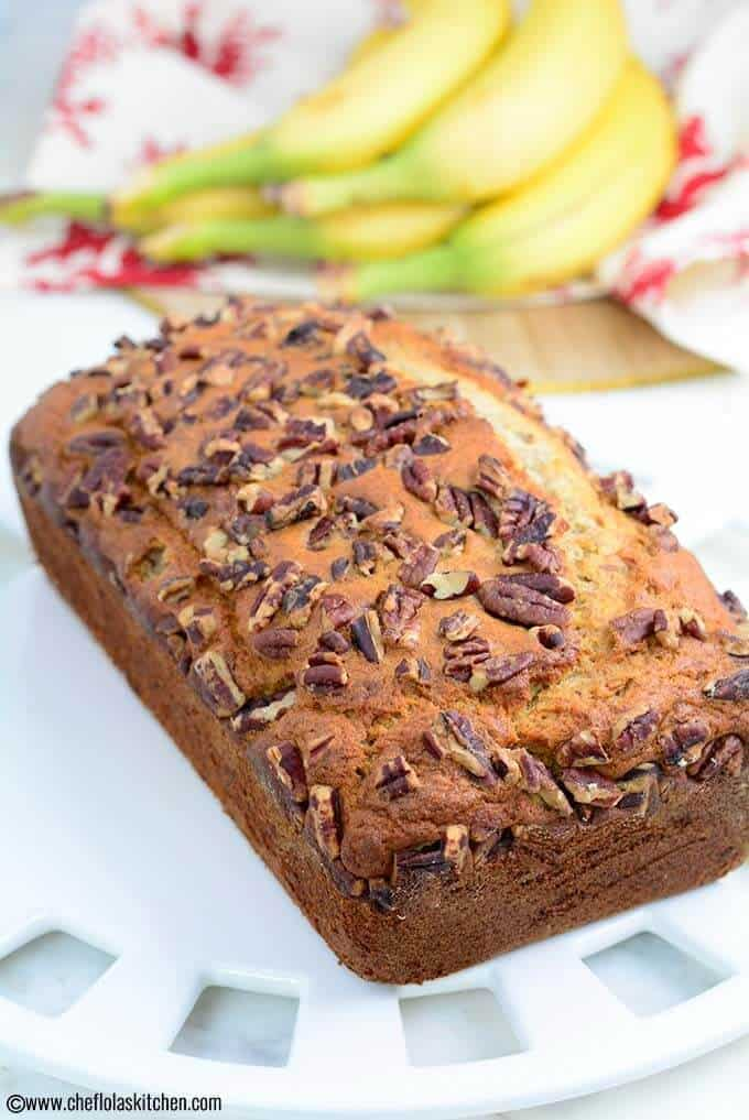 Simple, moist, and tasty Banana Bread with just the right amount of sweetness.