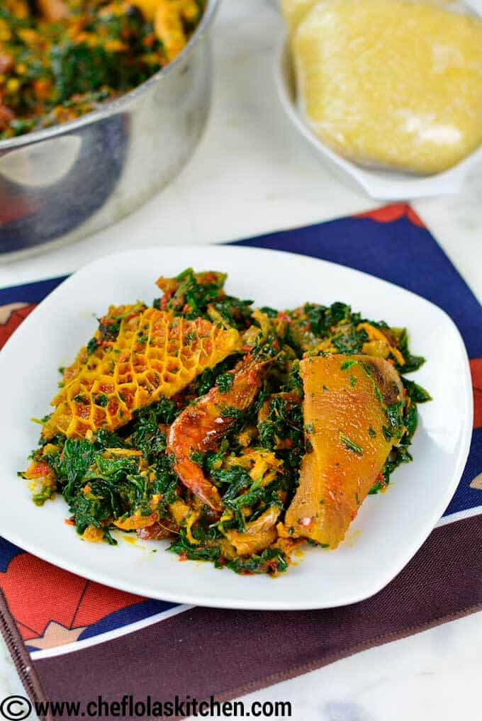 African stewed spinach - Delish!