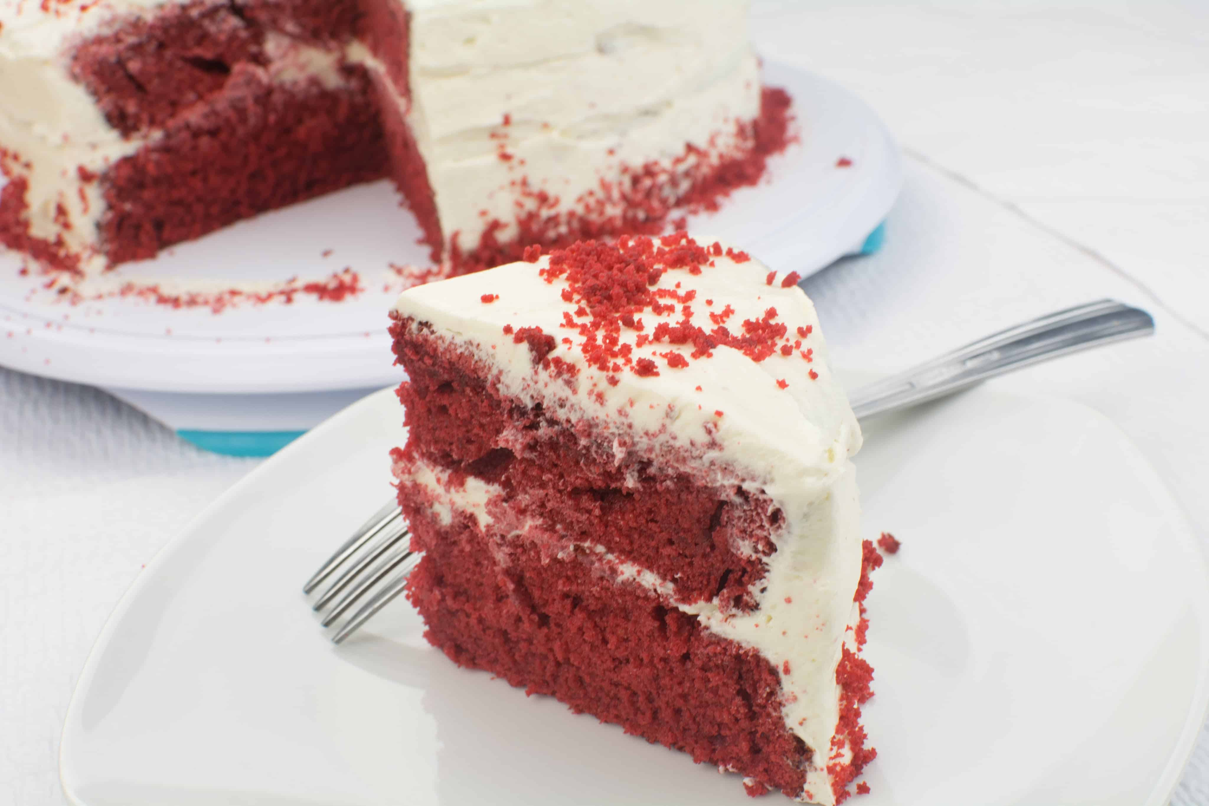 how to make a cake from scratch red velvet