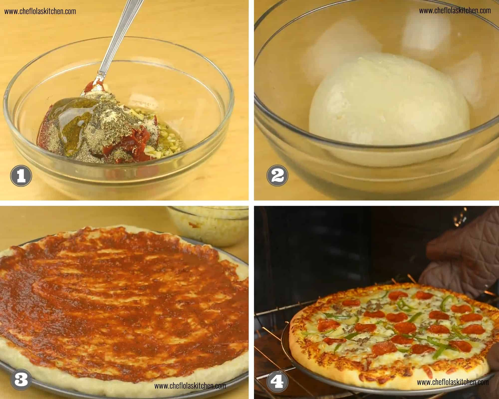 Homemade Pizza Recipe From Scratch Chef Lolas Kitchen