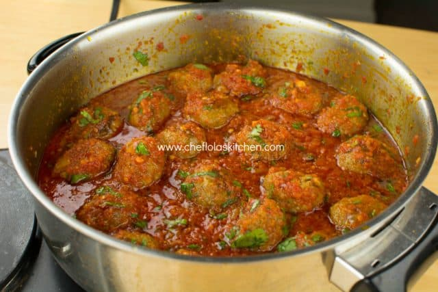 Meatballs in Ata Dindin