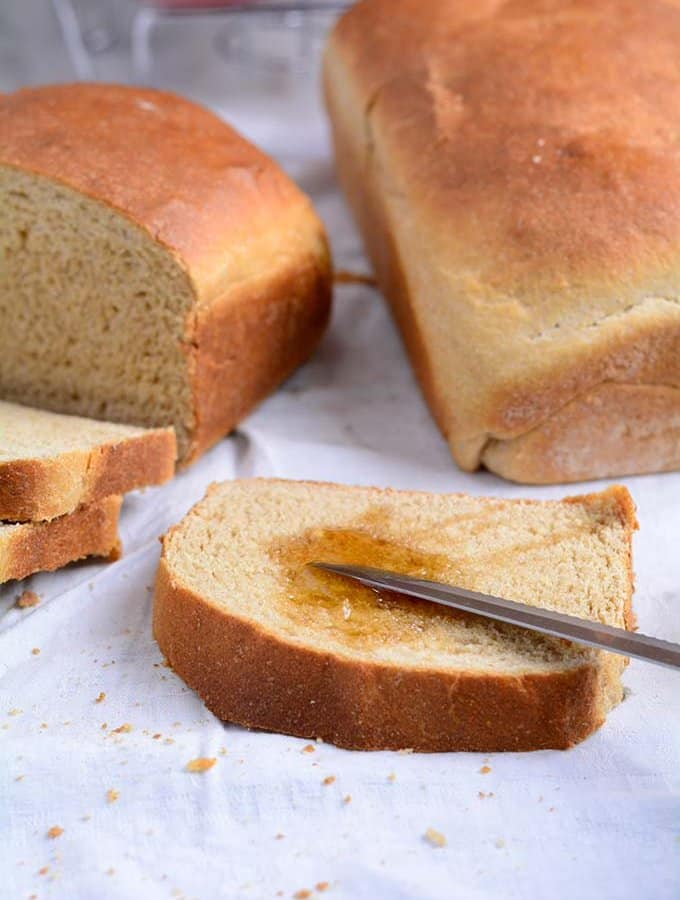 Easy Homemade Honey Whole wheat Bread