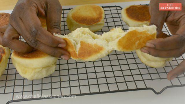 Bread Rolls in a pan.