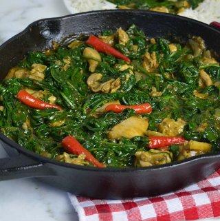 Chicken stir fry with Spinach (VIDEO)