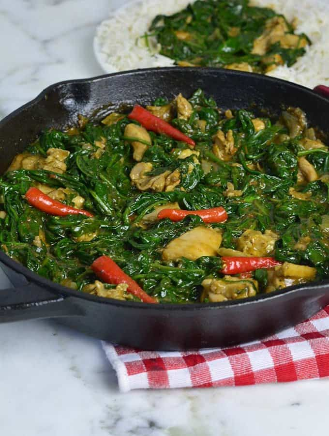 Chicken Stir fry with Spinach