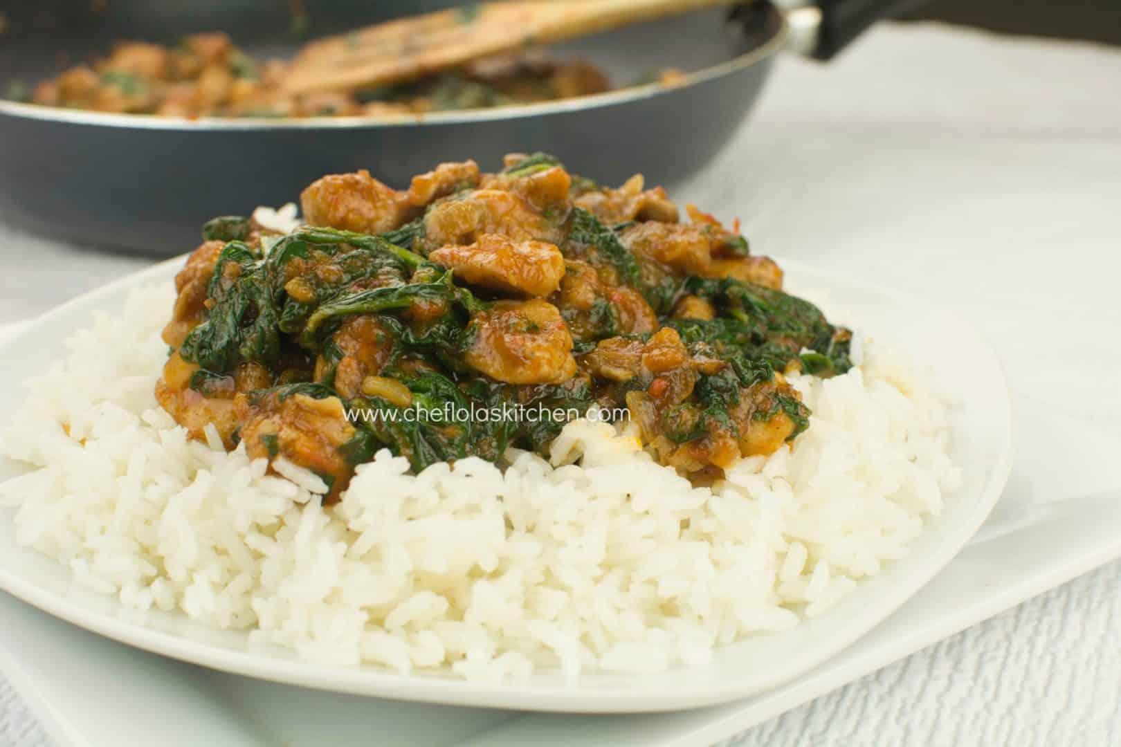 Chicken stir fry with Spinach