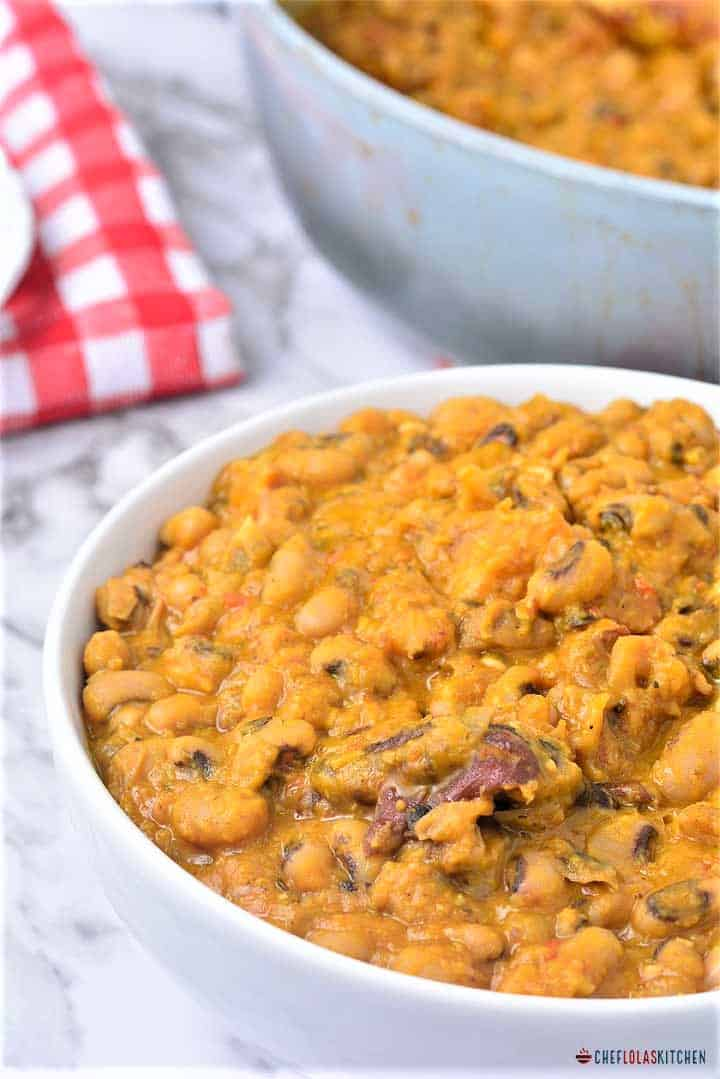 Ewa riro or Nigerian beans poridge