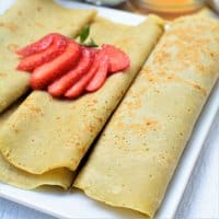 Rolled up Plantain pancakes