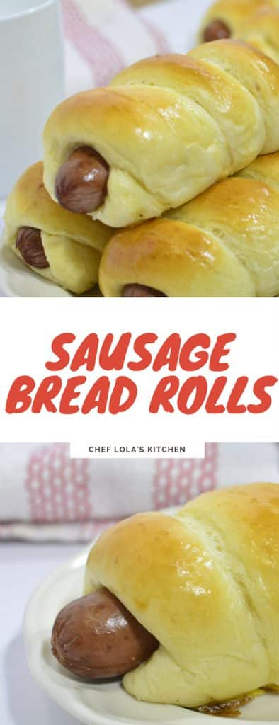 Sausage Bread Rolls also known as Chinese buns