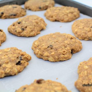 Freshly baked Honey Oatmeal cookies