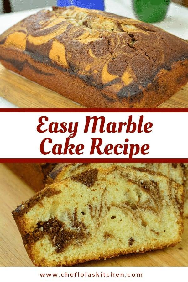 Marble loaf Cake.