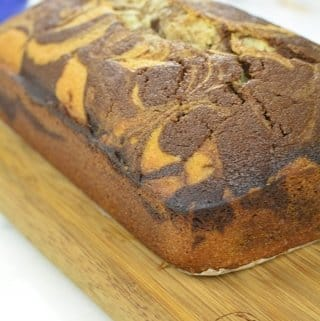 chocolate marble cake or swirl pound cake