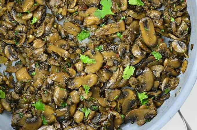 Sauteed Mushrooms Top View