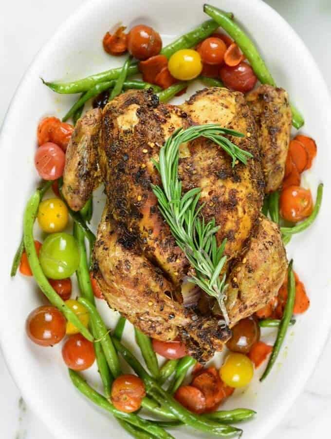 Easy Dry Rub Roast Chicken