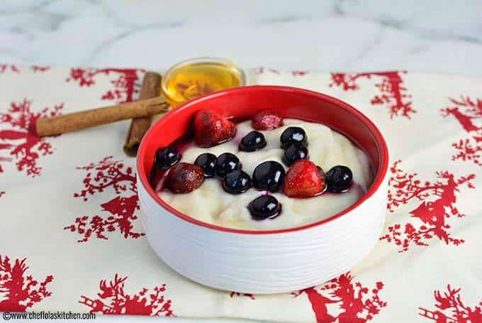 Breakfast Semolina porridge