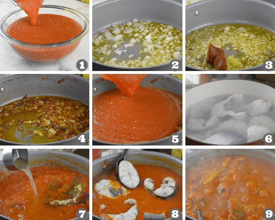 Step by step directions - how to cook salmon stew