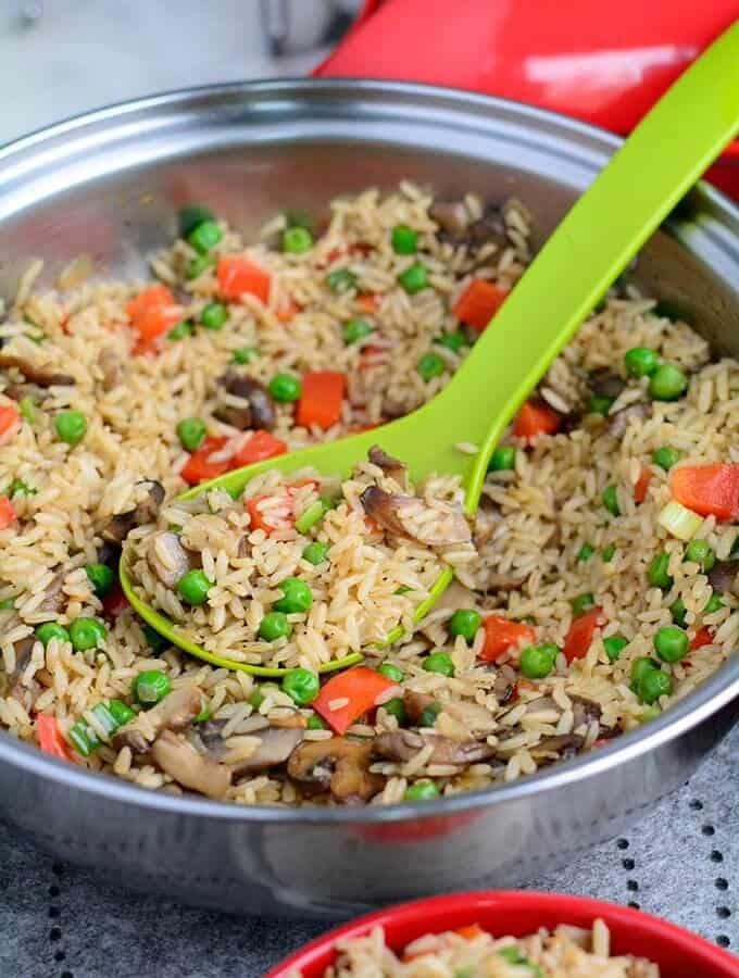 Easy Hearty Mushroom Rice