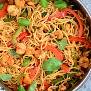 The Cajun shrimp Pasta is a quick, easy, and flavorful stand alone meal