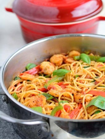 This Cajun Shrimp and Pasta is very easy to put together and super delicious!