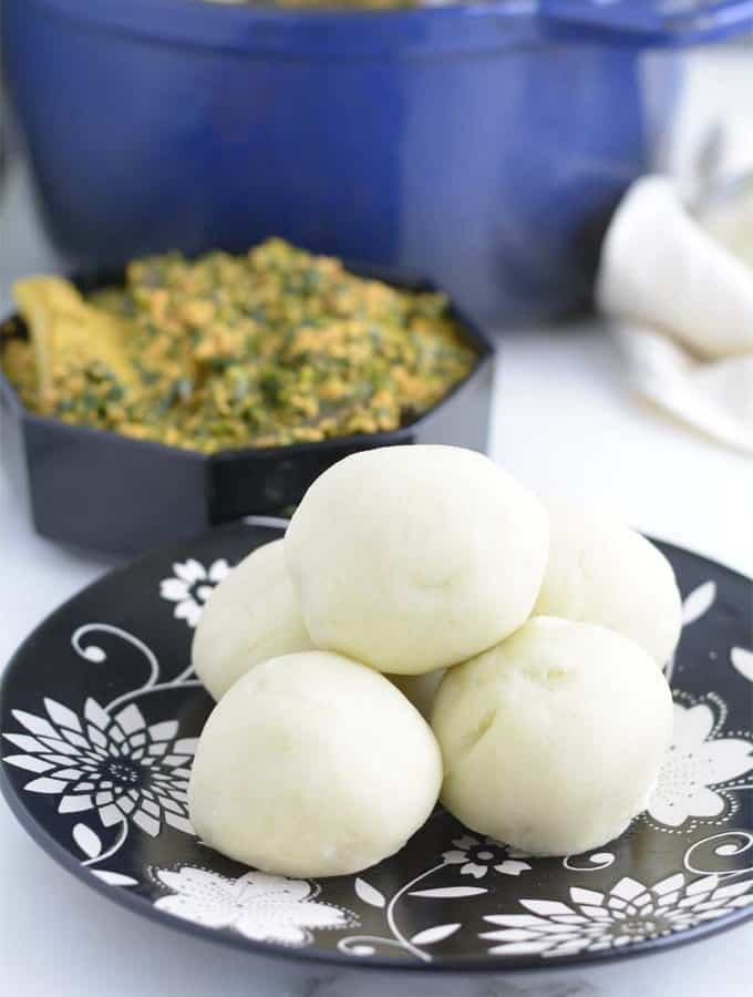 Pounded Yam made with a hand mixer