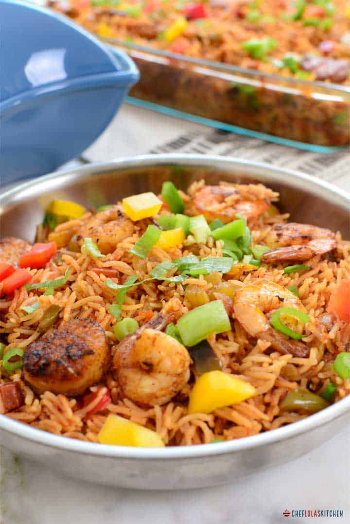 This seafood Jambalaya certainly looks elegant on plate.