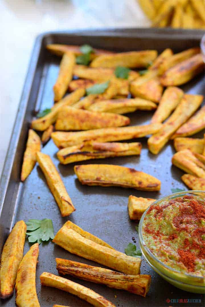 The light spice in these fries allows you to savor the subtle taste of the plantain.