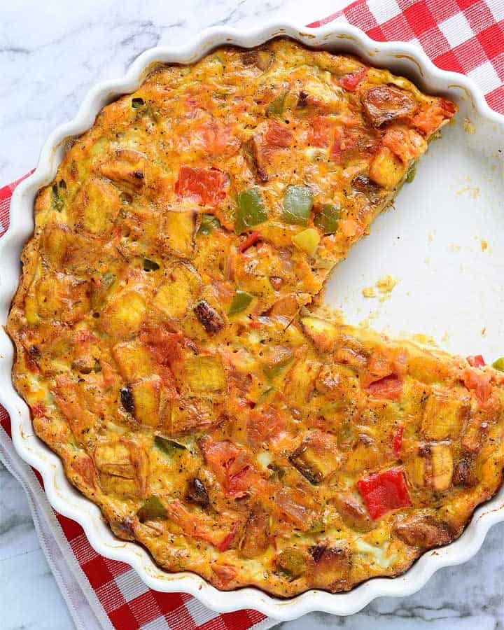 Baked Plantain and Egg frittata