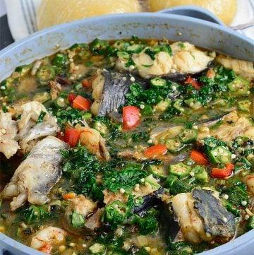 Delicious Nigerian Okro Pepper soup