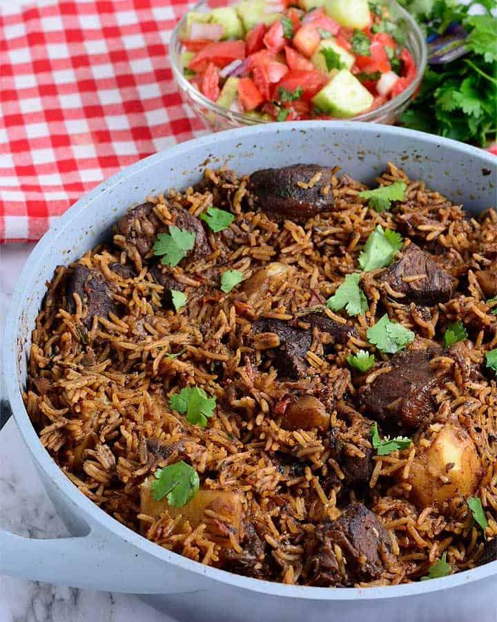 Kenyan Beef and Potato Pilau
