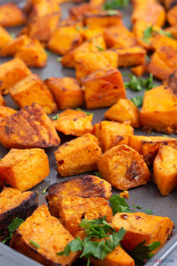 Quick And Easy Oven Roasted Sweet Potatoes Chef Lolas Kitchen