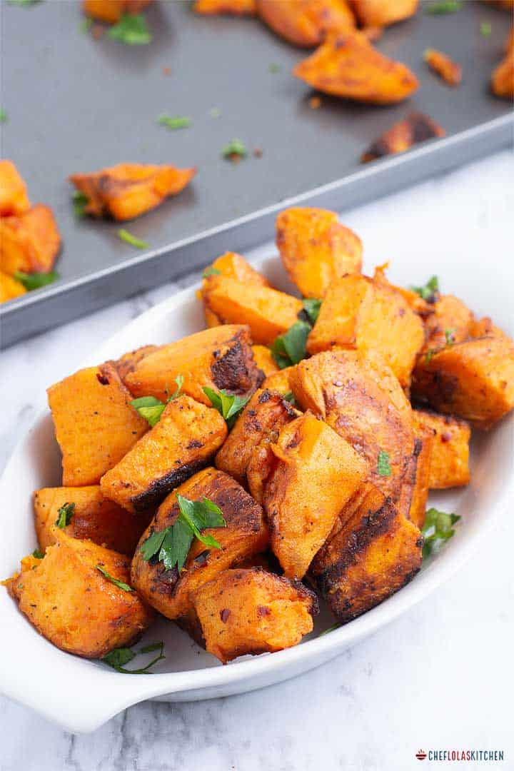Spiced oven roasted Potatoes