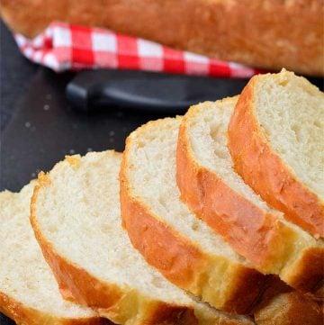 freshly baked No-knead Sandwich Bread