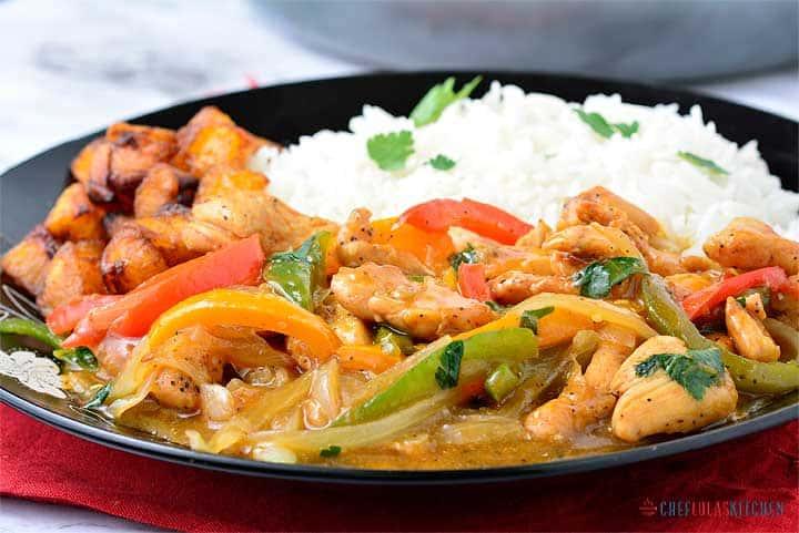 Bell pepper chicken stir-fry