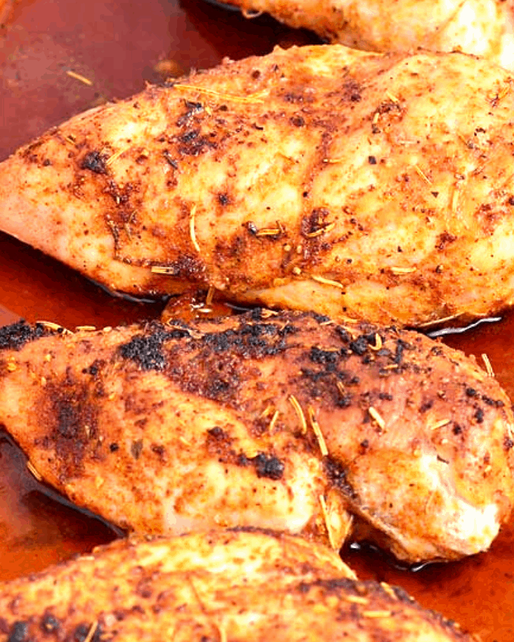 Freshly baked chicken Breasts