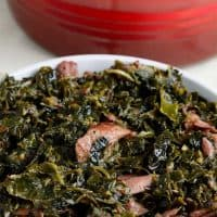 Collard Greens served in a bowl