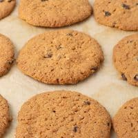 `Baked Oatmeal cookies in a baking pan
