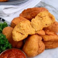 Showing the inside texture of freshly made Akara