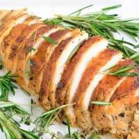 Sliced baked turkey breast